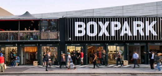 Boxpark Pop-Up Shipping Container Mall