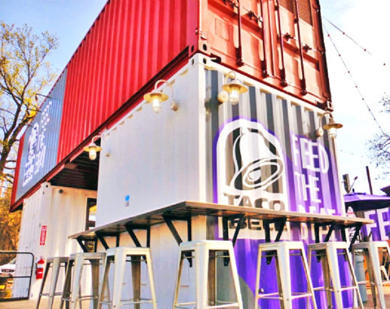 Taco Bell's Shipping Container Restaurant at SXSW