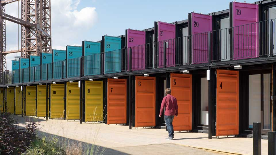 Containerville, London's Shipping Container Office Space