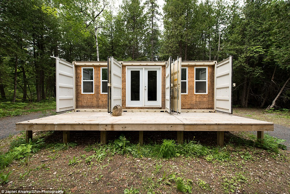 A container home in the woods - Container home blog ...