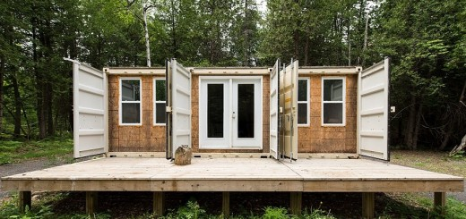 A Container Home In The Woods
