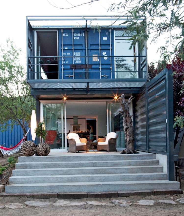 Foot container home was built from 4 40 foot containers in spain