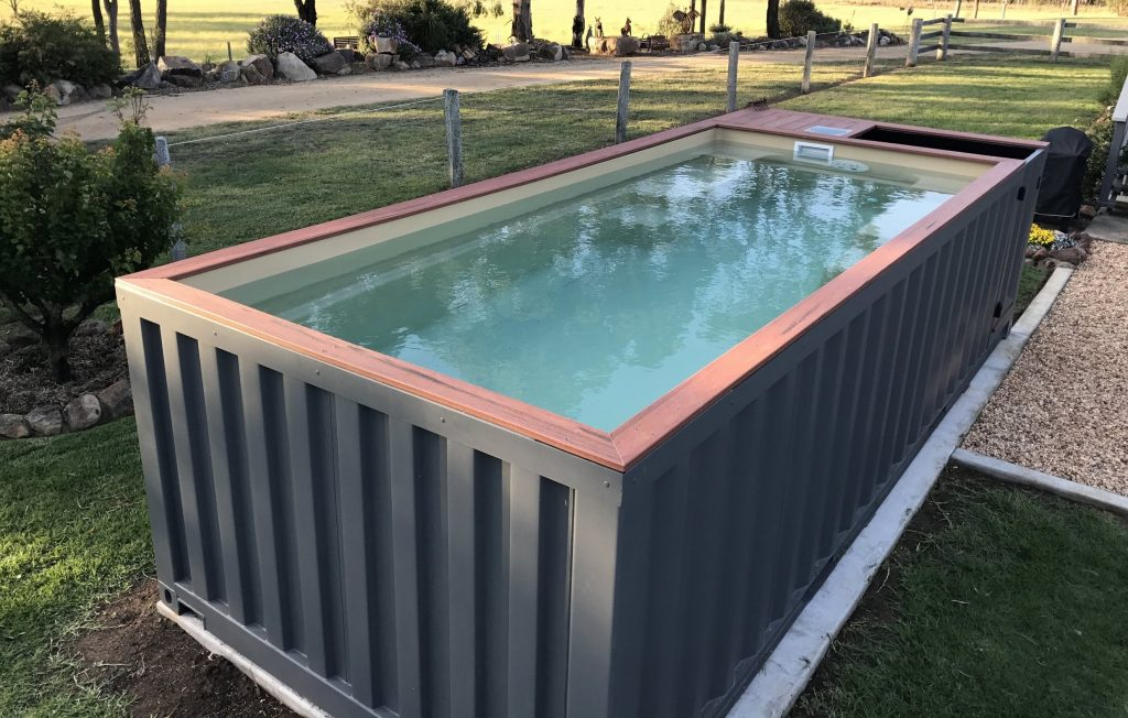 the diy shipping container swimming pool buy a shipping. Black Bedroom Furniture Sets. Home Design Ideas