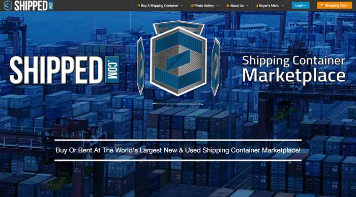 Homepage screen shot of shipped.com