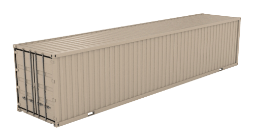 40' Standard (8'6inches High) shipping container icon