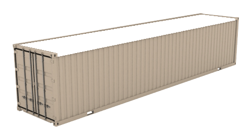 40' High Cube Open Top (9'6inches High) shipping container icon