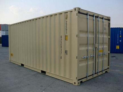 20' Double Door shipping container in New (One-Trip) condition #1