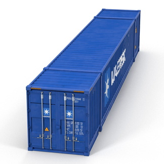 53' High Cube shipping container in New (One-Trip) condition #1