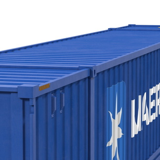 53' High Cube shipping container in New (One-Trip) condition #2